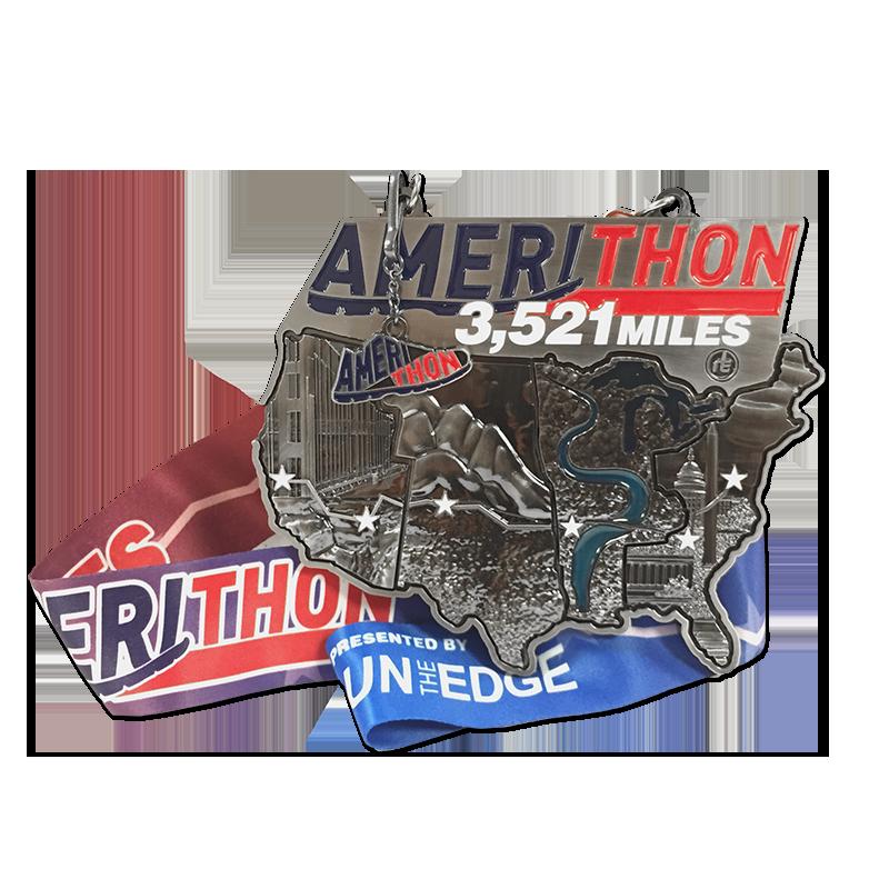 Amerithon virtual challenge medal