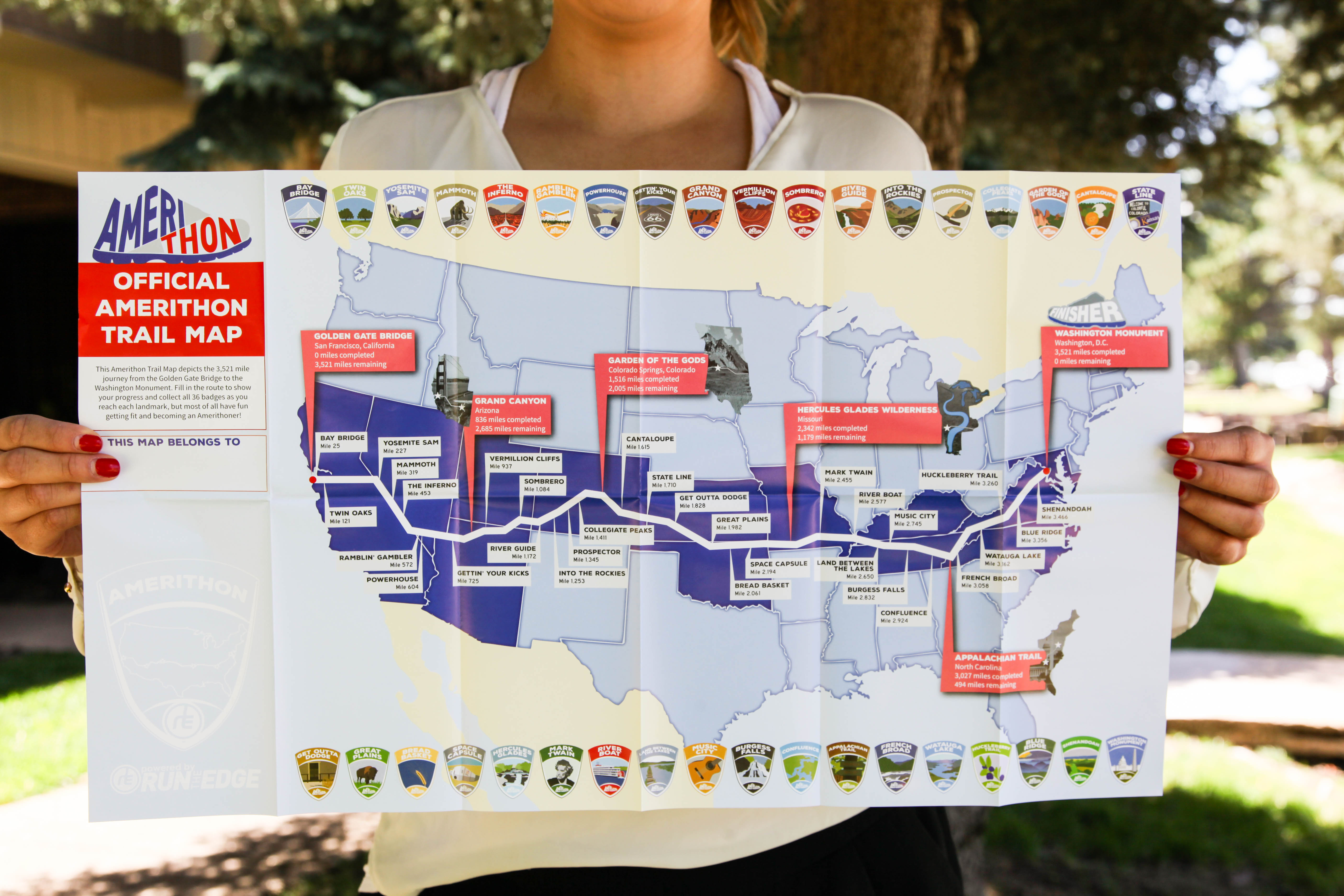 Amerithon Map